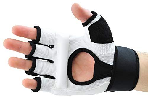 Profi PU FreeFight MMA Handschuhe Modern Lights weiß Abbildung 2