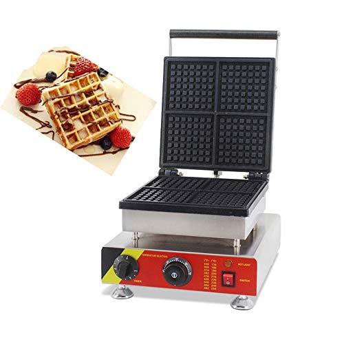 Hanchen NP-505 4pcs Commercial Waffle Maker Electric Waffle Machine No-Stick Belgian Waffle Baker 110V/220V (Rectangle)