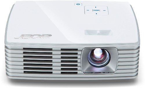 Acer K132 WXGA LED-Projektor (500 ANSI Lumen, Kontrast 10.000:1, 1280 x 800 Pixel, 1 x HDMI/MHL Anschluss, optional WiFi-fähig) weiß