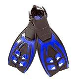 HXiaDyG Aletas de Buceo Natación Aletas for Adultos Profesional Freestyle Formación Profesional Equipo de Snorkel portátil para Viajar (Color : Azul, Size : 41.6x23cm)