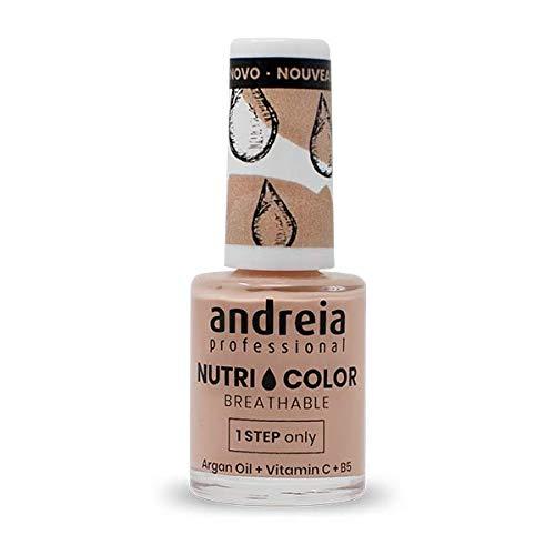 Andreia Professional NutriColor - Smalto per unghie Vegan Traspirante - Colore NC8 Nudo -...