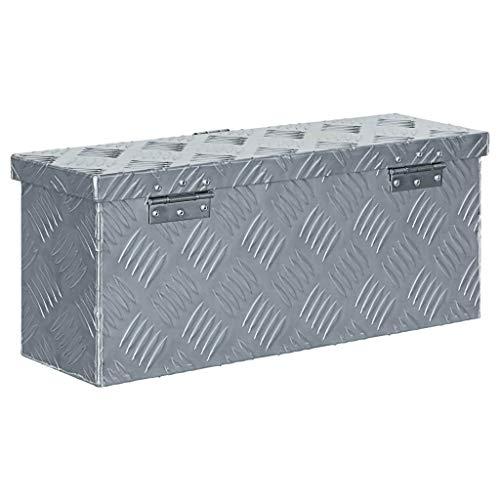 vidaXL Aluminiumkiste Silbern Alubox Aluminiumbox Transportkiste Alukoffer - 3
