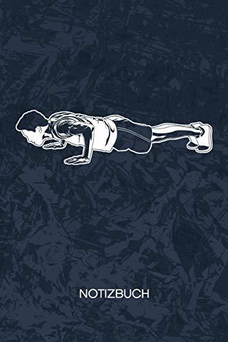 NOTIZBUCH: A5 Kariert - Hobbysportler Heft - Fitness Notizheft 120 Seiten KARO - Fitness Motivation Notizblock Brusttraining Motiv - Fitnesstrainer Geschenk