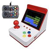 LIAWEI Retro Mini consola de juegos Arcade + asas dobles, consola de videojuegos portátil clásica de 3 pulgadas, 360 juegos clásicos, soporte de 1 a 2 jugadores, se puede conectar a la televisión