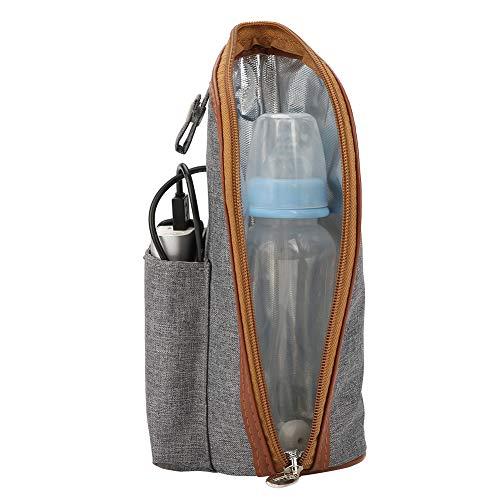 USB-Heizung Tragbarer Babyflaschenwärmer, isolierte Babyflaschenträger-Einkaufstasche Aufbewahrungstasche für Säuglingsnahrungsflaschen für Einkäufe mit dem Auto