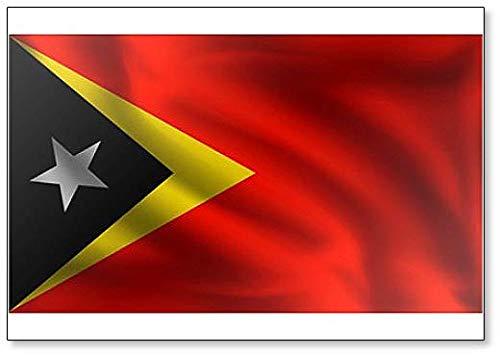 Kühlschrankmagnet, Motiv: Waving East Timor Flagge, die Flagge von Osttimor