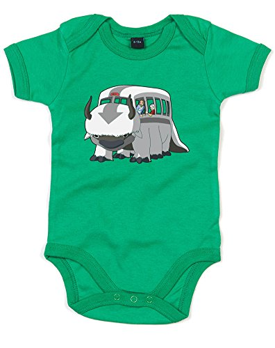 Brand88 Appa Bus, Printed Baby Grow - Kelly Green/Transfer 12-18 Months