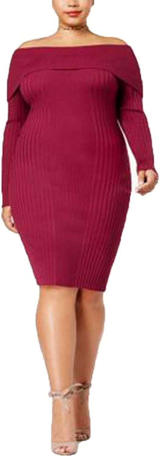 SayWhat Trendy Plus Size OffTheShoulder Bodycon Dress