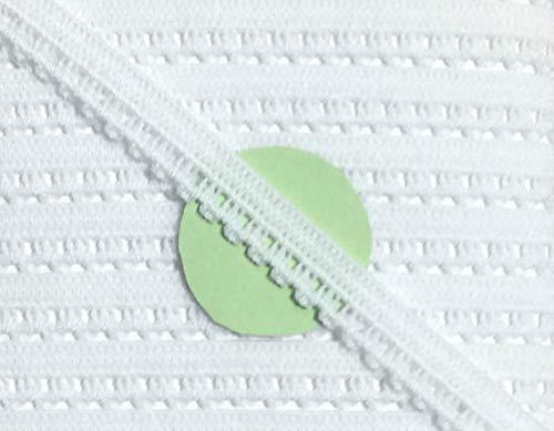 3 m Wäschespitze elastisch 8 mm weiß