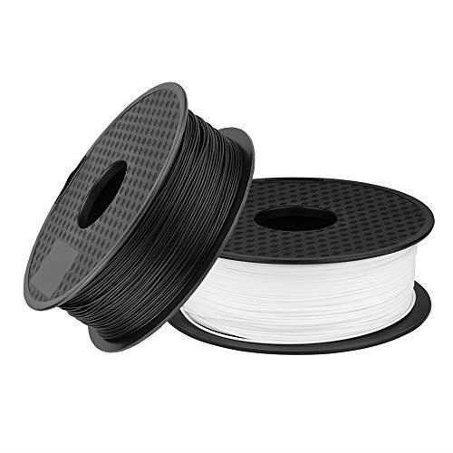 Sovol 3D Drucker Filament PLA 1,75 mm 1 KG Spule für 3D Drucker und 3D Stift Filament, 0.02 mm Toleranz, Vakuumverpackt (Schwarz+Weiß)