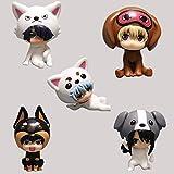 AMrjzr 5 Tipos de Sombrero de Perro Animal de hun Plateado Tiempo Plateado Zougo Shishiro Adornos He...