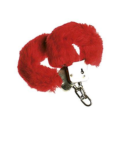 Widmann Menottes en Fourrure Rouge pour Poule Stag Party Accessoire
