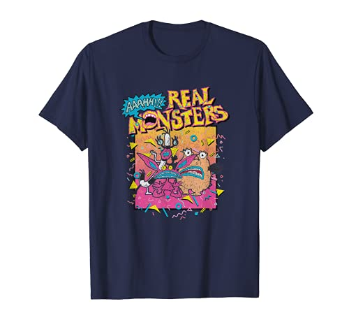 Nickelodeon Aaahh!!! Real Monsters Classic Retro Poster Camiseta
