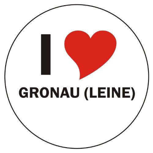 I Love GRONAU (LEINE) Handyaufkleber Handyskin 50x50 mm rund