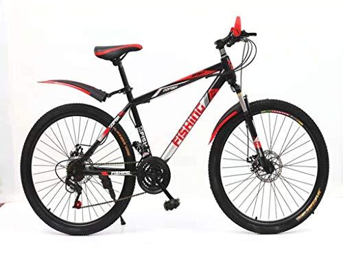 Bicicleta De Montaña para Adultos El Amortiguador Todoterreno De Velocidad Variable De 26 Pulgadas para Bicicletas De Hombres Y Mujeres Es Fácil De Instalar