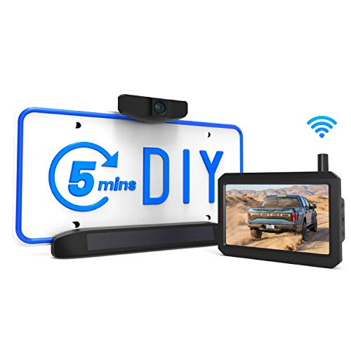 Solar Wireless Backup Camera Kit, 5 Mins DIY Installation, 5-inch Monitor and HD Image Rear View Camera for Cars by AUTO-VOX backup Cameras Vehicle