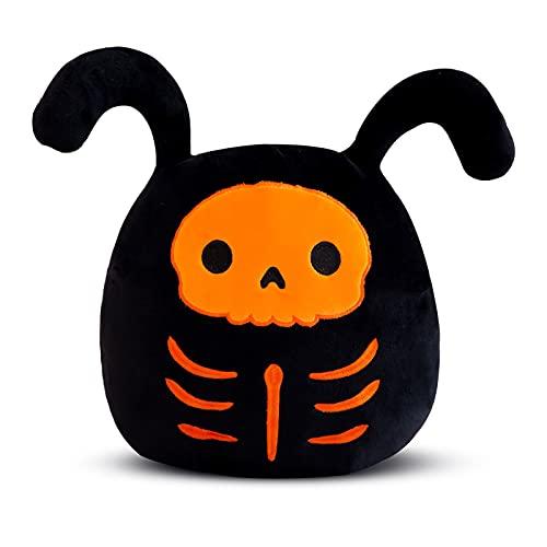 LJINPIN Peluches de Esqueleto Naranjao, Juguete de Peluche Suave Decorativo para Halloween, Funda de Cojín Relleno para Sofá Dormitorio Coche, Niños 30 cm
