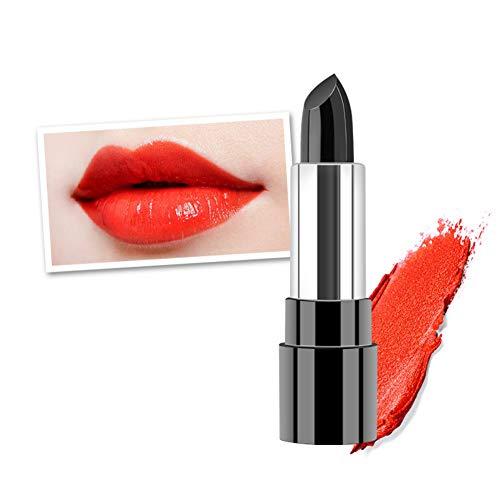 Allbesta Soy lecithin Schwarz Farbwechsel Matte Lippenstift Temperatur ändern Farbe Rot Lip Balm Feuchtigkeits Make-up Lippenpflege