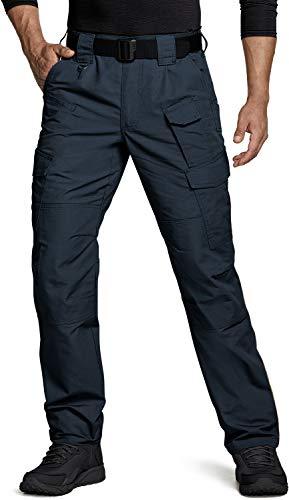 CQR Herren Tactical Hose, Imprägniermittel Ripstop Cargo Pants, Leichte EDC Wandern Arbeitshosen, Outdoor Bekleidung, Tlp109 1pack - Navy, 30W / 30L