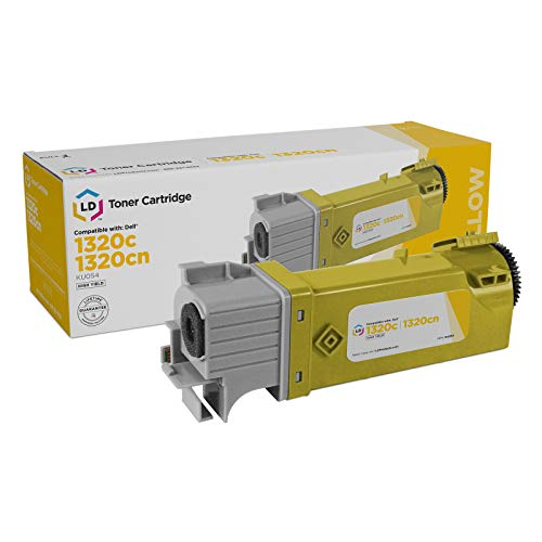 LD Compatible Toner to Replace Dell KU054 (310-9062) High Yield Yellow Toner Cartridge for Your Dell 1320c / 1320 Color Laser Printer