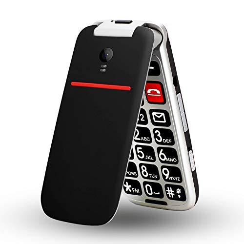 artfone Teléfono móvil plegable CF241 para personas mayores, sin contrato, teclas grandes, GSM para personas mayores con Dual SIM y pantalla a color de 2,4 pulgadas