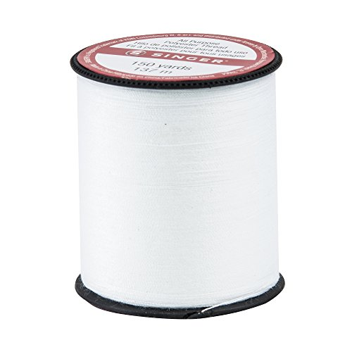 SINGER 150-yard All Purpose Polyester Thread, 1-Pack, White