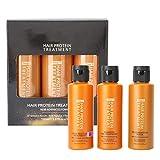 Juego de champú y acondicionador de mascarilla para el cabello al 8%, limpieza de control de aceite de reparación de proteínas para cabello dañado en seco y tratado con color