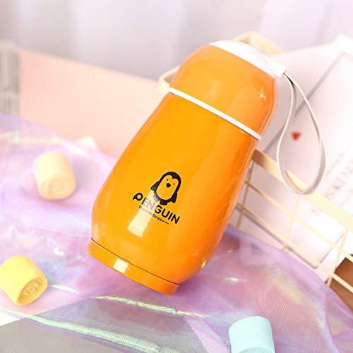 Sylvialuca Pinguin Thermoskanne Edelstahlbecher Wärmedämmung Trinkflasche Isolierflasche