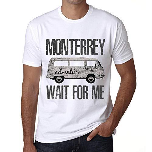 Hombre Camiseta Vintage T-Shirt Gráfico Monterrey Wait For Me Blanco