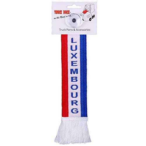 TRUCK DUCK® LKW Auto Minischal Luxembourg Luxemburg Trucker Mini Schal Wimpel Flagge Fahne Saugnapf Spiegel Deko