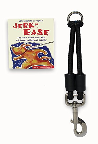 Jerk-Ease Bungee Dog Leash Extension - Large Black