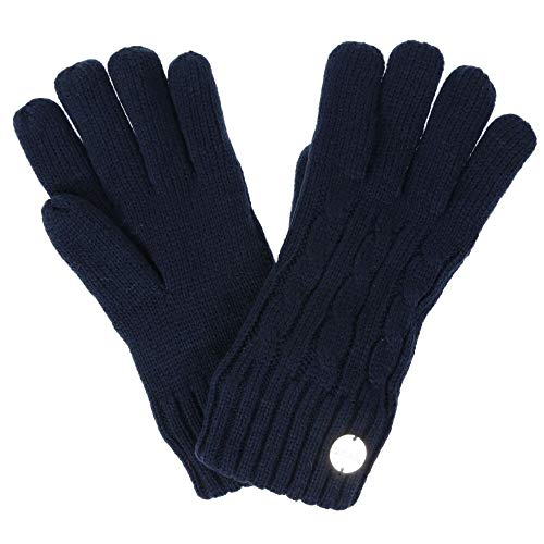 Regatta Damen Multimix II' Cable Knit Gloves Handschuhe Kinder, Navy, S/M
