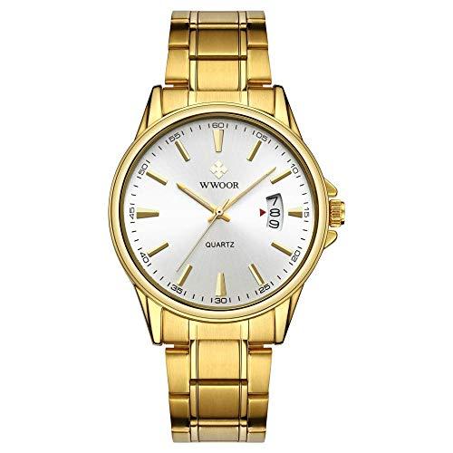 Reloj de Moda Impermeable con cronógrafo de Acero Inoxidable para Hombre -B