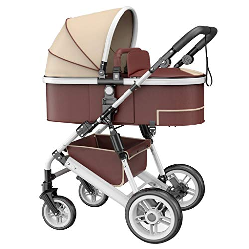 Best Prices! Baby Stroller Portable Two-Way Four-Wheel Shock Absorber Can Sit Reclining Fold Light a...
