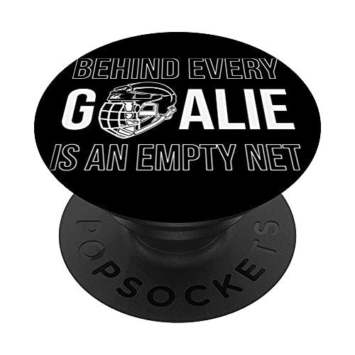 Goalie Hockey Eishockey Hockeyschläger Schlittschuhe Puck PopSockets mit austauschbarem PopGrip