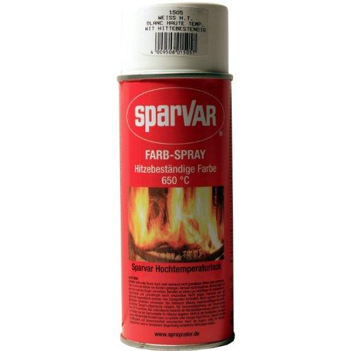 SparVar 6015057 Hochtemperatur Lackspray 400 ml bis 650 Grad C, weiß