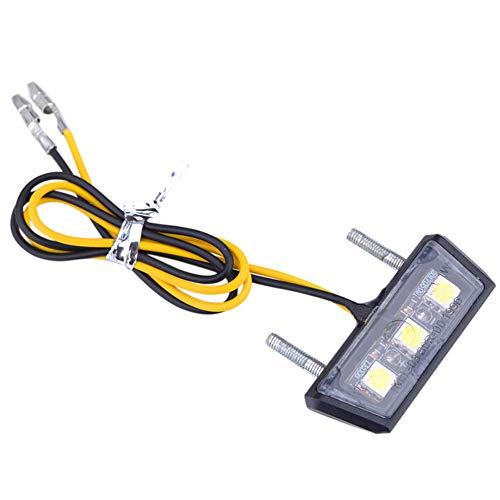 Greluma 1 Stk Motorrad Kennzeichenleuchte 3 SMD LED Chip Mini Tiny Lampe
