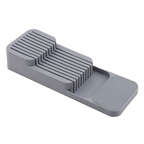 Organizador de cubiertos, caja de almacenamiento de utensilios de cocina de plástico para cuchillos tenedores, cucharas, cuchillo de frutas, portabloques, armario de cajones (portacuchillo)
