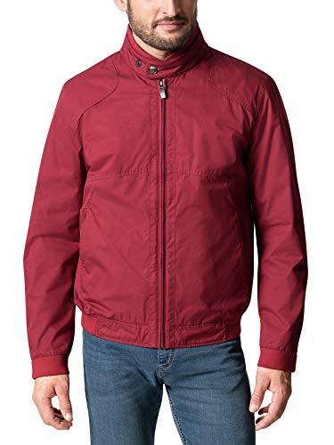 Walbusch Herren Baumwoll Twill Blouson einfarbig Rot 48