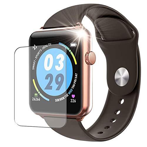 Vaxson 3 Unidades Protector de Pantalla, compatible con ELEPHONE W6 smart watch [No Vidrio Templado] TPU Película Protectora Reloj Inteligente Film Guard Nueva Versión