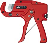 KNIPEX Tools - Pipe Cutter for Plastic Conduit Pipes (9410185)