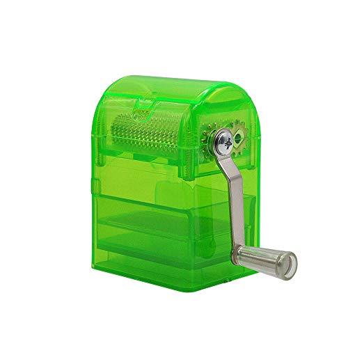 Root of all evil Trituradora de manivela Manual Amoladora de Fumar Cortador de Tabaco Amoladora de Hierbas Amoladora de Tabaco Muller de Mano con Estuche de Almacenamiento-Verde