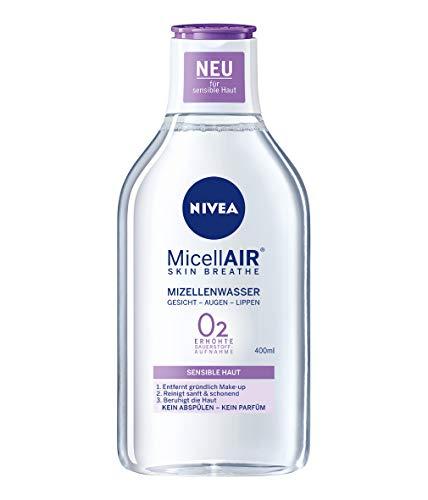 NIVEA MicellAIR Skin Breathe Mizellenwasser für sensible Haut, 400 ml