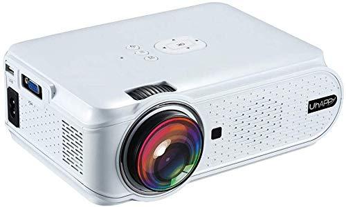 Miniprojector 1080P HD bewegende 2000 lumen projector 40.000 uur LED-lampen levensduur compatibel met PS4 PC HDMI VGA SD-kaart en USB voor thuisbioscoop kantoor presentaties, zwart