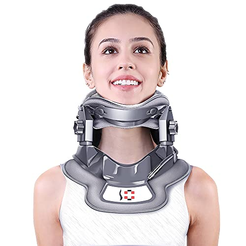 Cervical Neck Traction Device with 3 Power Traction + Airbag Support