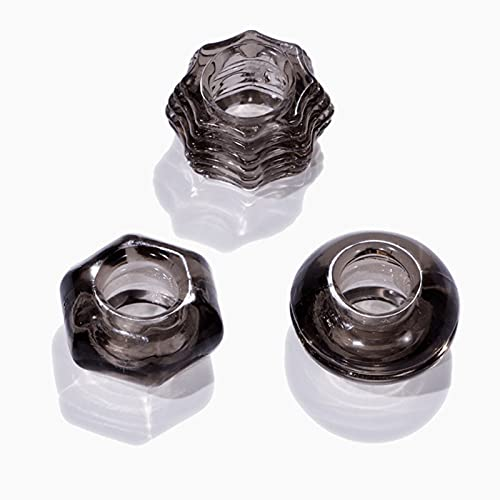 Men's Delayed Ejacu'lation High Quality Silicone Locking Fine Ring Fashion Crystal Bound Roo'ster Ring 3-Piece Set Elbow Braces,Yoga Ring (Color : Black)