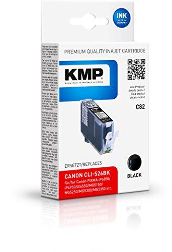 KMP C82 Tintenpatronen ersetzt Druckerpatrone für Canon CLI-526BK, schwarz, 9 ml
