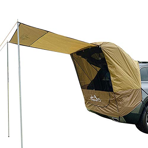 favourall Auto Markise Sonnensegel Für Wohnwagen Wohnmobil Zeltplanen, Pilote Für VW Caddy Heckzelt Hecklappenzelt Camping Heckklappe Für Kombis Und Kleine SUV- / MPV-Fahrzeuge