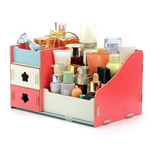 Preisvergleich Produktbild MMMP Kosmetik-Aufbewahrungsbehälter mit Schubladen Bad / Schlafzimmer Desktop-Holz-Bürstenhalter,  11x7.1x6.3 Inches (Color : A)
