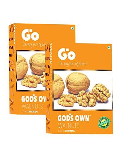 Go Organic Light Broken Walnut Kernels 500g, (250g x 2)